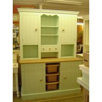 Painted Kitchen Dresser Solid pine dresser with baskets Painted - ivory, old white and duck egg blue, choice of handles metal or wooden