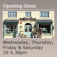 Opening Times -  Wednesday to Saturday 10-5.30pm Sunday 10-4pm